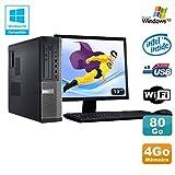 Pack PC DELL Optiplex 3010 DT G640 2.8 GHz 4GB 80 GB DVD WIFI Win XP + Bildschirm 19 (Generalüberholt Zulässig)