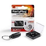 Alpine PartyPlug - Ohrstöpsel für Musik, Konzerte & Festival, Gratis Miniboxx, schwarz