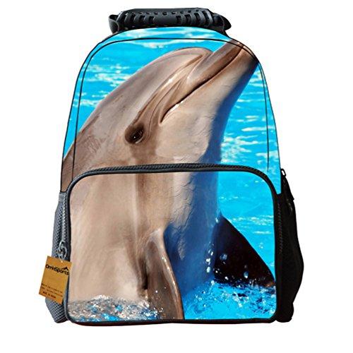 OrrinSports Zainetto per bambini Dolphin 40,5 cm