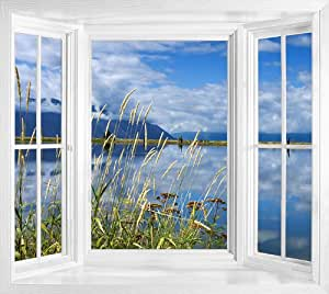 art fever fenster wandbild foto tapete selbstklebend blick lake idaho wei k che. Black Bedroom Furniture Sets. Home Design Ideas