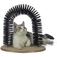 Juguete para gato MW Cat Bristle Arch, Cat Scratcher and Grooming Arch, Self Groomer y masajeador con Catnip, No más Hair Balls and Shedding, cepillado suave de la piel, Perfecto para jugar y arañar, Construcción duradera