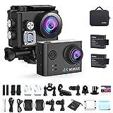 WiMiUS L2 4K Action cam Ultra HD WIFI Actioncam 40M Unterwasserkamera mit 2 Akkus und Transporttasche
