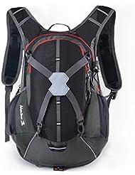 ISIYINER 28L Ultralight Unisex Impermeable Casual Hombro Mochilas para Transpirable Moto Bicicleta Deportes al Aire Libre Caballo Viaje de Marcha Montaña Con Cubierta de la lluvia