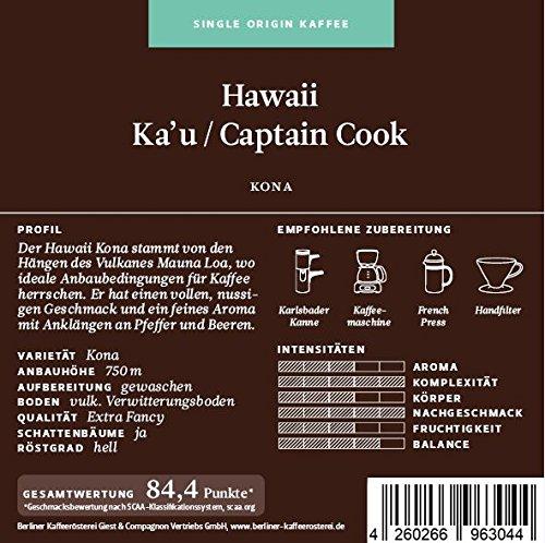 BKR | Kaffee | Hawaii | Kona Extra Fancy | Arabica | Single Origin 250g Gemahlen