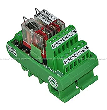 Shavison Relay Module AS392-24V-S-OE, 2C/O, 2 Channel, 24VDC Coil, OEN Relay, Reverse Blocking Diode, Socket Mounted Relay, Contact Rating : 28VDC/230VAC, 5A