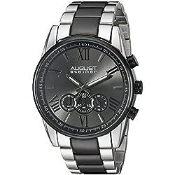 August Steiner Watch Men'S Chronograph Bracelet Two-tone