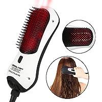 Cepillo de pelo de aire caliente con generador de iones negativos por infrarrojos, rizador giratorio de enderezar.