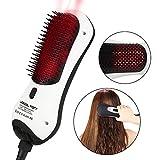Brosse soufflante Sèche-cheveux avec infrarouge ions négatifs Générateur Rouge Curling Lisseur fer à lisser brosse Lissante pour cheveux, élimine frizzing Tangled