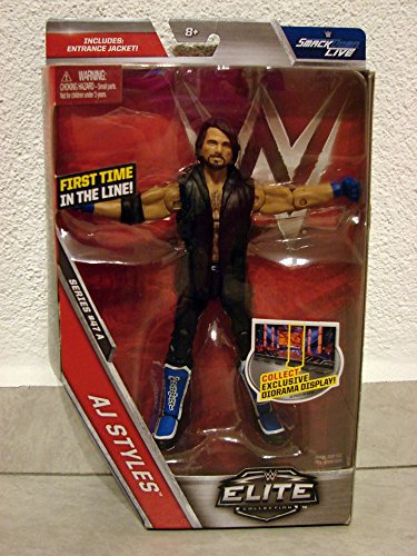 Figur AJ Styles WWE Elite 47 Mattel TV Authentic