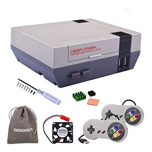 Retroflag NESPi Case + Plus con controladores de juego con...
