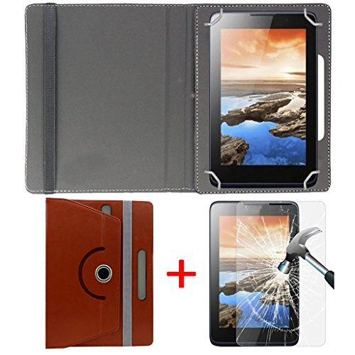 """Hello Zone Exclusive 360° Rotating 8"""" Inch Flip Case Cover + Free Tempered Glass for Samsung Galaxy Note 5100 (Wi-Fi,16GB) -Brown  available at amazon for Rs.479"""