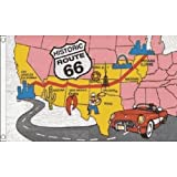 Best Road Trip Routes - Route 66 Flag 5Ft X 3Ft American Road Review
