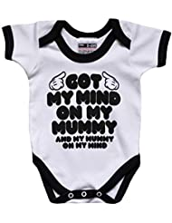 Snoop Dogg Got My Mind on my Mummy Funny Baby Grow Cool regalo para bebé y negro