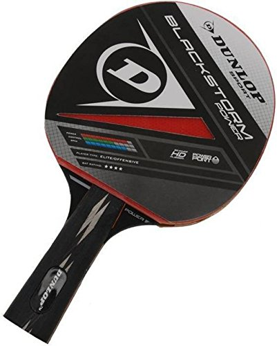 Dunlop Black Storm Power Table Tennis Racket For Advance Players