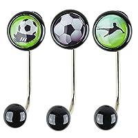 Set of 3Single Football with Clothes Hooks Coat Hooks Coat Hooks, Children