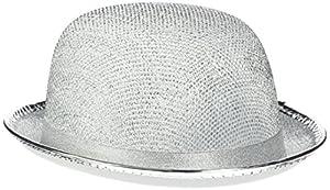 Reír Y Confeti - Fiedis062 - Disfraces de accesorios - Chapeau Melon Glitter Plata