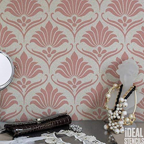 Art Déco Blumenmuster Stil Schablone Heim Wand Dekorieren Kunst & Basteln Schablone Farbe Wände Stoffe & Möbel 190 Mylar wiederverwendbar Schablone