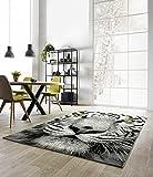 Carat Designer Teppich White Tiger in 3 Größen