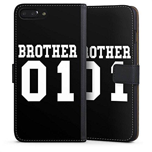 Apple iPhone X Silikon Hülle Case Schutzhülle Brother Bruder Bro Sideflip Tasche schwarz