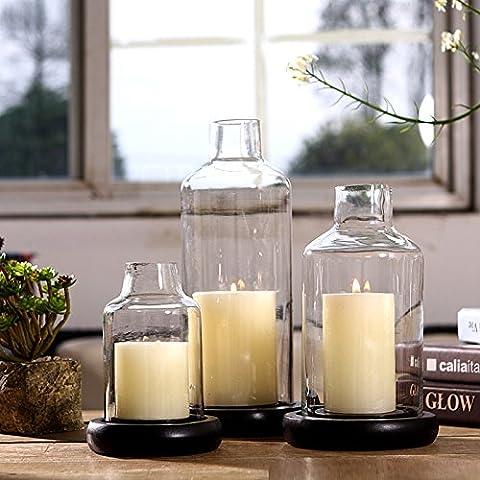 qwer Moderna y minimalista de vidrio adornos candleholder cena con velas matrimonio Qingsheng, plantilla props habitación amueblada , grande 12215-27+ 7.5*10cm