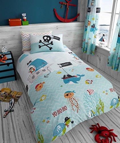 Luxus und modern Kinder Rotary Multi Charakter/Bettbezug & Kissenbezug Bettwäsche-Set und passender Spannbetttuch separat erhältlich, Under the Sea, Duvet cover with pillowcase (Duvet-set Luxus-bettwäsche)