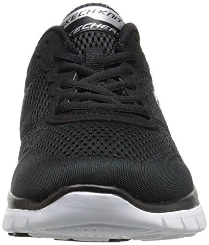 Skechers Flex AdvantageCovert Action, Sneakers basses homme Noir - Noir/blanc
