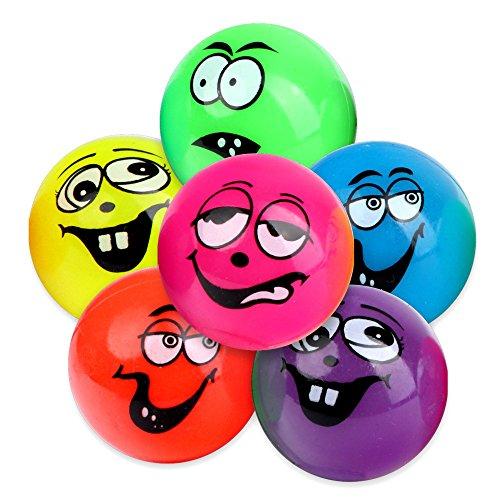 unny Gesicht Bälle Funny Face Ball wie Springball Flummi Hüpfball (Smiley-bälle)