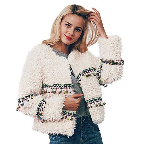 NINGSANJIN Damen Kontrastfarbe Pulli Pullover Rollkragen Sweatshirt Kapuzenpulli Top Hoodies (Wei?,M)