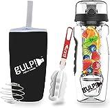 gulp Fruit Infuser Water Bottle 1 Litre with Hydrogel 235 Detox Recipe ebook