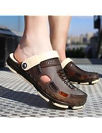 Im Sommer, Baotou Badeschuhe, Hausschuhe, Sandalen, der Trend Sommer Herren Hausschuhe, 42, Braun