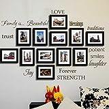 Wandtattoo Familie By BDECOLL-Nr 12 Wortwolke Sprüche Aufkleber Wandsticker( Familie,Paient,Liebe,Schon und Vertrauen als Wanddeko