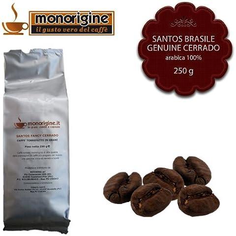 Caffè in Grani Santos Brasile Genuine Cerrado 250 gr - Caffè Monorigine Arabica 100%