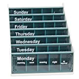 Blue Anabox 7 Day Pill Organiser x 10