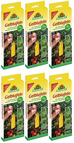 6 x 21 (126 Stk) Neudorff Gelbtafeln (kleinformatig) insektizidfrei