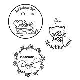 Stempel Clear, Für Naschkatzen, A7, 3 - teilig, transparent