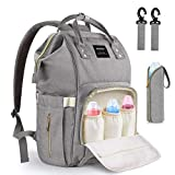 Baby Changing Bag, MoFut Baby Diaper Nappy Rucksack Backpack Multi-Function Waterproof Travel Backpack with USB Port Insulated Pockets for Baby Care, Large Capacity