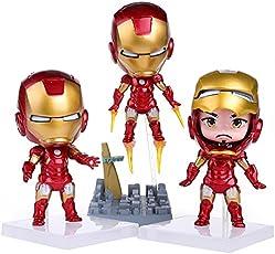 Marvel Avengers Infinity War 3 Pcs Iron Man Tony Stark Action Figure Toys