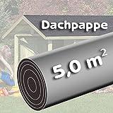 Bitumen - Dachpappe 5 m² schwarz besandet für Spielhaus von Gartenpirat