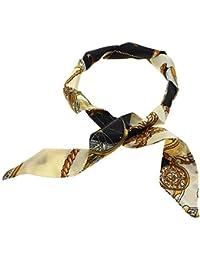 ?Sac de dames filles ruban de soie foulard décor ruban de soie chariot noir beige