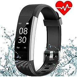 Pulsera de Actividad ANEKEN Pulsera Inteligente con Pulsómetro Pulsera deportiva y Monitor de Ritmo Cardíaco Impermeable IP67 Reloj Fitness Podómetro, Sueño, Notificación de SMS