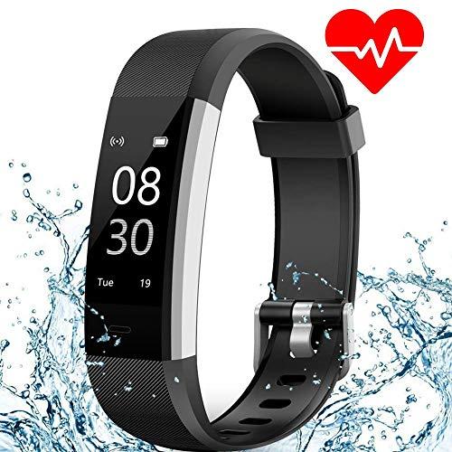 a946f4648 Pulsera de Actividad ANEKEN Pulsera Inteligente con Pulsómetro Pulsera  deportiva y Monitor de Ritmo Cardíaco Impermeable