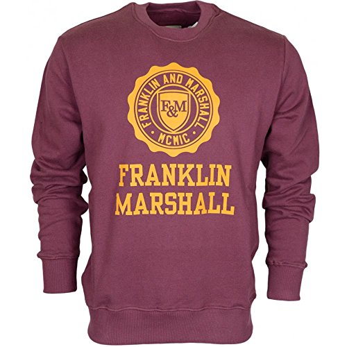 Franklin-Marshall-MF434-Round-Neck-Printed-Crest-Vintage-Port-Sweatshirt