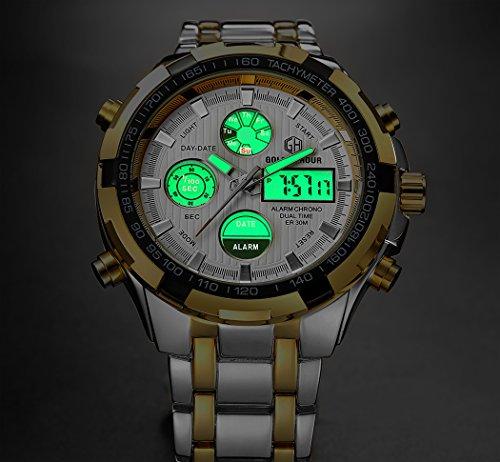 Herren-Uhren-wasserdicht-Military-Sport-Analog-Digital-Dual-Display-LED-Stoppuhr-Armee-Groer-Stahl-Armbanduhren