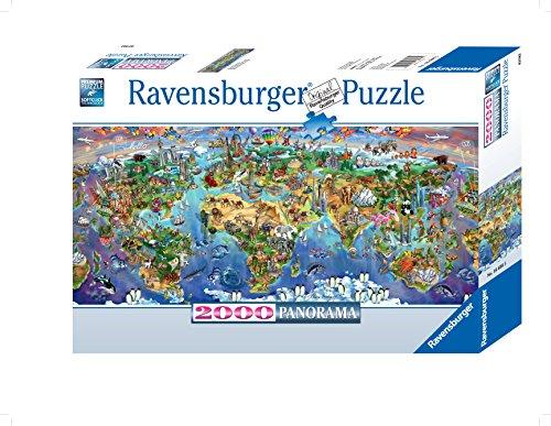 Ravensburger 2000 EL. Wunder der Erde (3000 Weltkarte-puzzle)