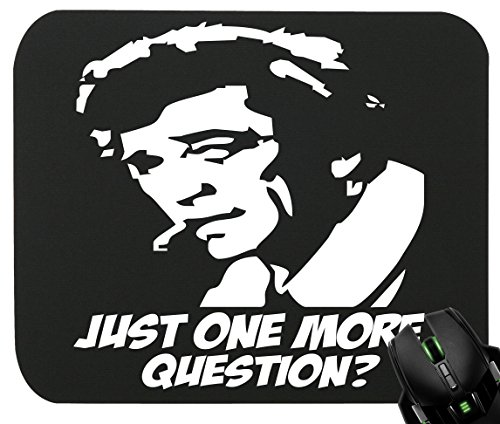 Touchlines?Imprimé Inspecteur Columbo Tapis de souris pour le jeu et la conception graphique 230x 190x 5mm 230x190x5mm noir - noir