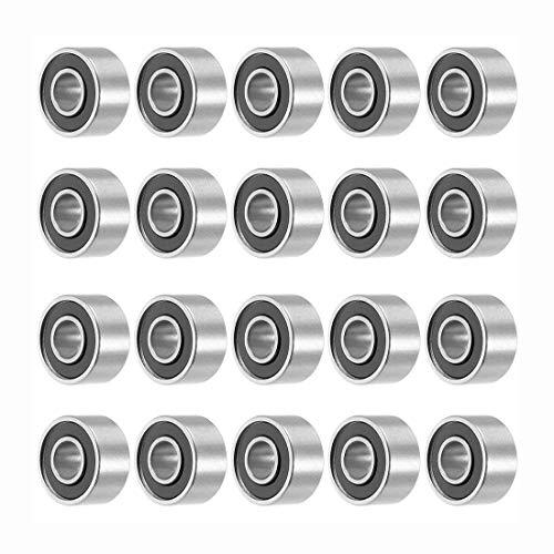 693RS Kugellager, 3 mm x 8 mm x 4 mm, tiefe Rillen, Miniatur, doppelt, 20 Stück