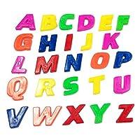quanjucheer 26Pcs Lower/Upper Case Alphabet Letters Number Fridge Magnet Kid Learning Toy Brain Game