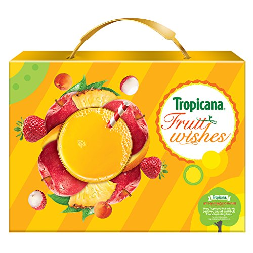 Tropicana Delight Fruit Juice - Festive Gift Box 3L (Mixed...
