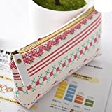 #4: Jadebin D8 Canvas School Pencil Case Stationery Storage Organizer Pencil Pouch Kawaii Pencil Pouch Ideal For Birthday Gifts | School | Utility Holder