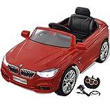 vidaXL BMW Voiture enfant à batterie avec télécommande Rouge